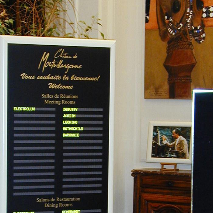 Panneau lumineux afficheur led lectronique information for Affichage lumineux exterieur