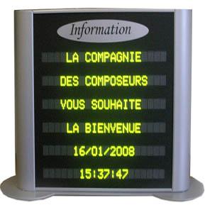 Panneau lumineux afficheur led lectronique information for Panneau publicitaire exterieur